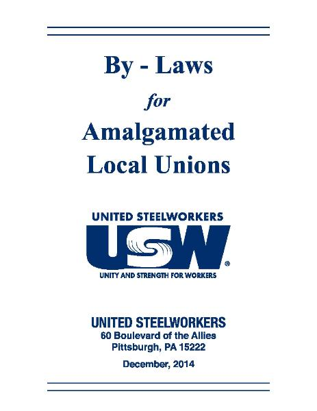 USW 2014 Amalgamated Local Union By-Laws